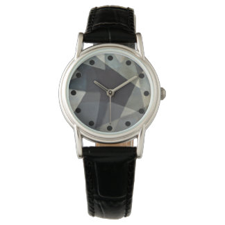 Reloj Reloj abstracto sofisticado con la banda negra