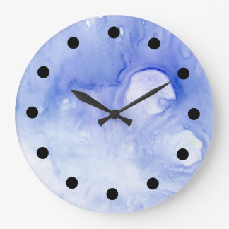 reloj abstracto violeta de la acuarela