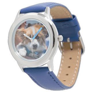 Reloj adorable del acero inoxidable del perrito