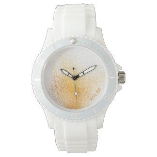 Reloj Aerosol anaranjado fresco