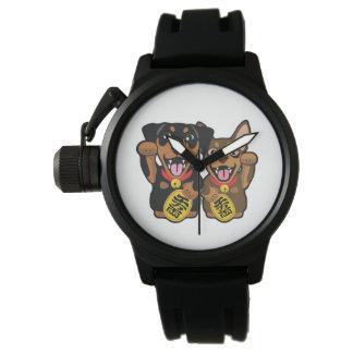 Reloj afortunado de los perros del Pin del minuto