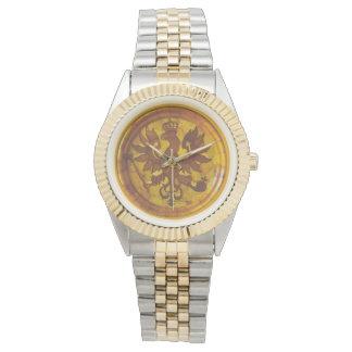 Reloj ambarino polaco de la mandala de Eagle