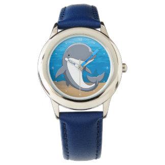 Reloj Amo el Bottlenose lindo de los delfínes
