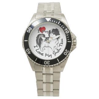 Reloj Amo mi perro de Shih Tzu