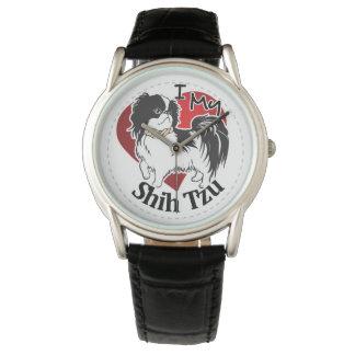 Reloj Amo mi perro divertido y lindo adorable feliz de
