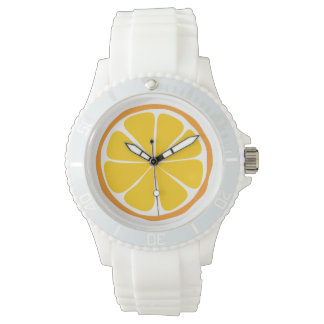 Reloj anaranjado de la fruta cítrica del verano