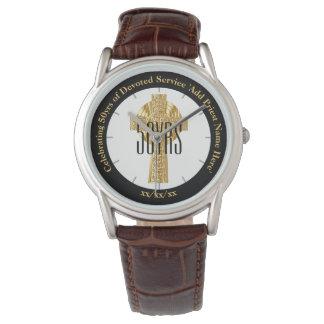 Reloj Aniversario de la ordenación del regalo del