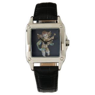 Reloj antiguo del ángel de la porcelana