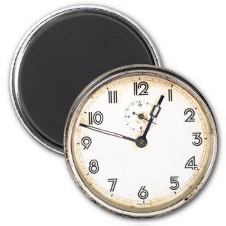 Reloj antiguo imán redondo 5 cm