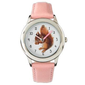 Reloj Ardilla roja del vintage lindo