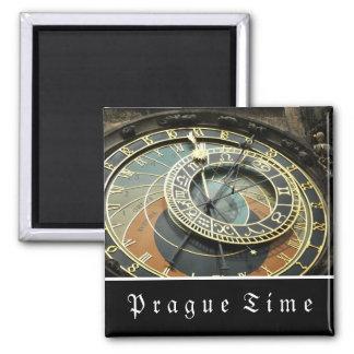 Reloj astronómico de Praga Imán Cuadrado