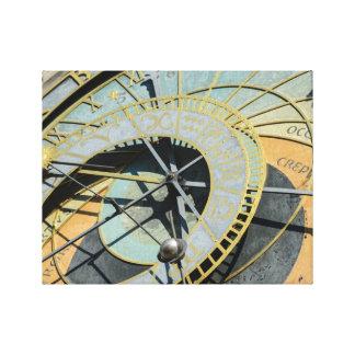 reloj astronómico de Praga Impresión En Lienzo