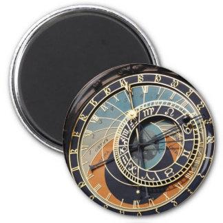 Reloj astronómico en Praque Imán Redondo 5 Cm