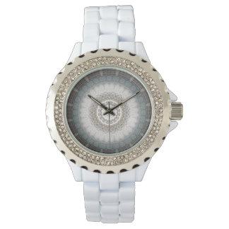 Reloj azul de plata del zen Namaste11