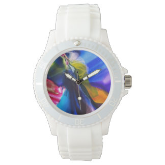 Reloj azul del silicón