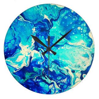 reloj azul que calma
