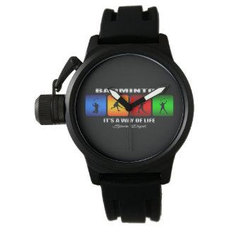 Reloj Bádminton fresco es una manera de vida