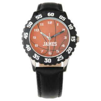 Reloj Baloncesto del monograma