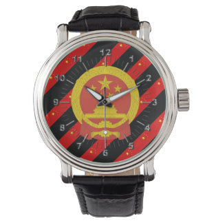 Reloj Bandera china de las rayas