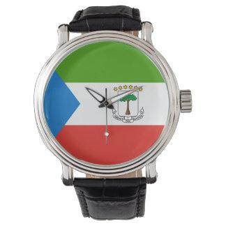 Reloj Bandera de la Guinea Ecuatorial