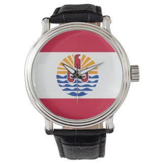 Reloj Bandera de Polinesia francesa
