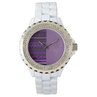 Reloj blanco de encargo