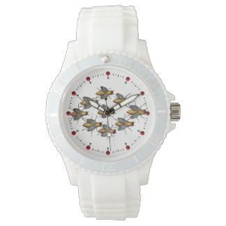 Reloj Blanco de la APICULTURA de las ABEJAS/del