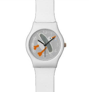 Reloj blanco del arte: Gaviota de Cornualles el