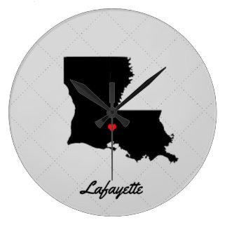 Reloj blanco y negro de Lafayette Luisiana