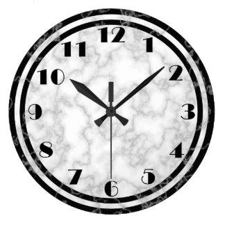 Reloj blanco y negro del art déco