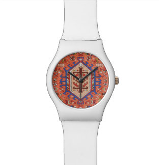 Reloj blanco y persa moderno liso del diseño