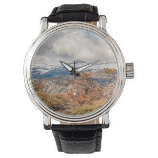 Reloj Bosque y montañas Nevado, Patagonia, la Argentina