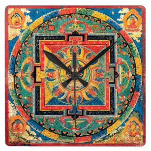 Reloj budista tibetano de la mandala