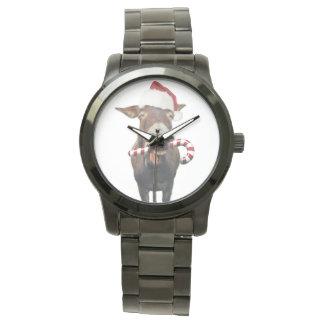 Reloj Burro del navidad - burro de santa - burro santa