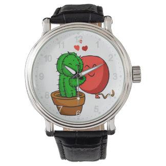 Reloj Cactus que abraza el globo