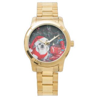 Reloj Caniche santa - perro del navidad - perro de Papá