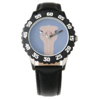 Reloj Cara divertida de la avestruz