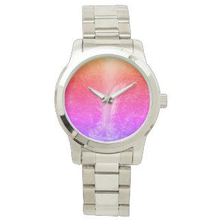 """Reloj """"Cascada tranquila brillante vibrante """""""