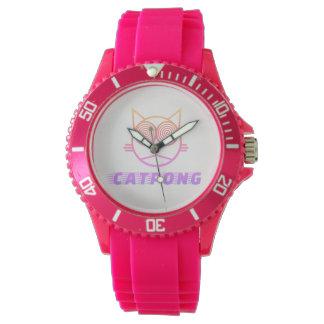 Reloj Catpong (rosa)