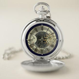 Reloj celestial de la luna de Sun y de bolsillo de
