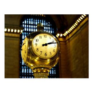 Reloj central magnífico postal