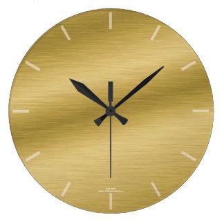 Reloj cepillado elegante de la mirada del oro