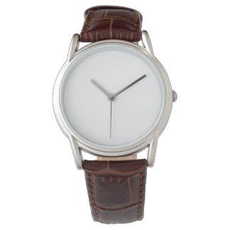 Reloj clásico de la correa de cuero de Brown de