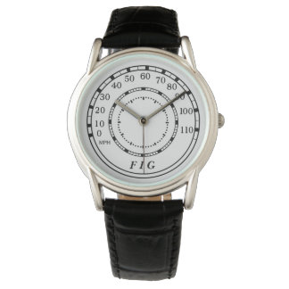Reloj clásico del monograma del velocímetro del