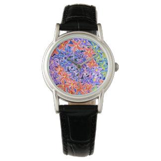 Reloj clásico floral del Watercolour hermoso