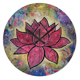 Reloj colorido, pacífico de Lotus