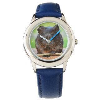 Reloj Conejillo de Indias personalizado hermoso del