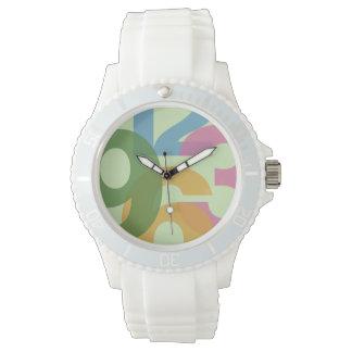 reloj contemporáneo colorido de los deportes