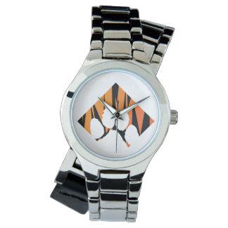 Reloj Cruzado de plata de Tigerpaw