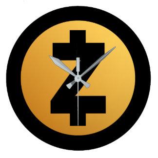 Reloj Crypto de la moneda de Zcash (ZEC) Reloj Redondo Grande